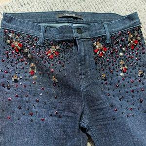 J BRAND Bootcut Embellished Jeans